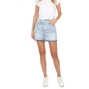 Frame Denim Le Mini Frayed Waist Skirt 23/OO